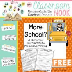 Classroom Freebies: A Fun Way to Introduce Persuasive Writing