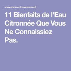 11 Bienfaits de l'Eau Citronnée Que Vous Ne Connaissiez Pas.