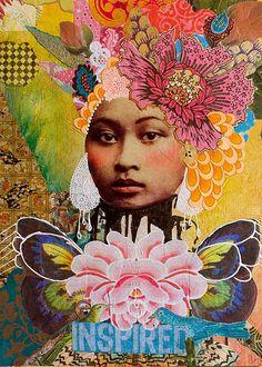 .reminds me of papayart.... beautiful collage