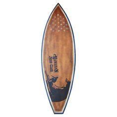 Hawaii Teak Surfboard Decor