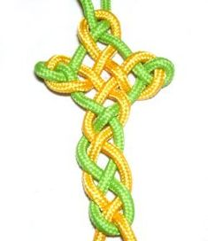 The Celtic Cross has a beautiful interlaced design.