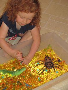 africian imaginative play scene water beads