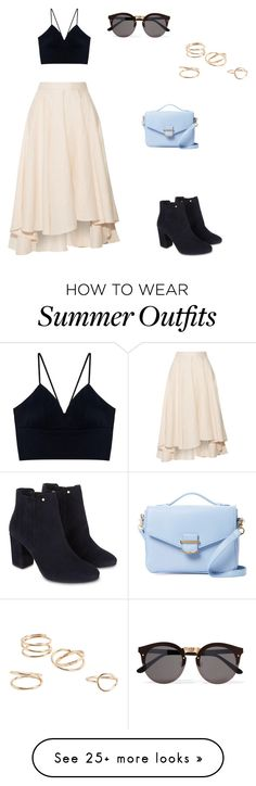"""""""Summer outfit"""" by lauren-vanvuuren on Polyvore featuring Miguelina, MANGO, Monsoon, Cynthia Rowley and Illesteva"""