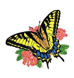 Butterfly Embroidery Design 52 - A | Embroidery Ivax
