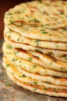 Turkish Flat Bread (Bazlama) Closeup photo of a stack of Greek Yogurt Turkish Flatbread. (Bazlama) Turkish Flat Bread (Bazlama) Closeup photo of a stack of Greek Yogurt Turkish Flatbread. Vegetarian Recipes, Cooking Recipes, Healthy Recipes, Greek Food Recipes, Recipes Dinner, Recipes With Yogurt, Fast Recipes, Tai Food Recipes, Delicious Recipes