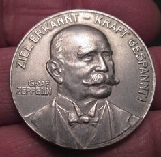 1908 LZ4 Zeppelin Destruction Medal Made from Remains Ofairship 574 | eBay