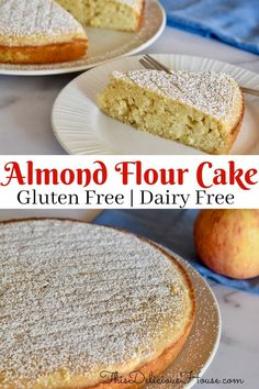 This recipe for Almond Flour Apple Cake is naturally gluten-free, dairy-free, and low in sugar. This simple and delicious recipe is great for breakfast, brunch, snack, or a light dessert. Curb your sweetness cravings guilt-free with this almond flour apple cake recipe. #almondapplecake #almondflourcake