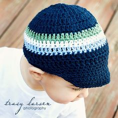 Crochet Baby Hat Baby Boy Hat Photography Prop 3 to by preppypeach, $18.95