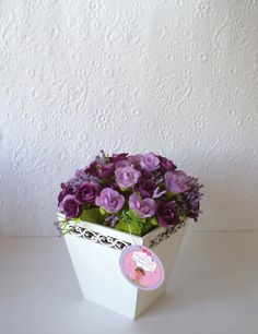 Vaso Provençal, com mini flores