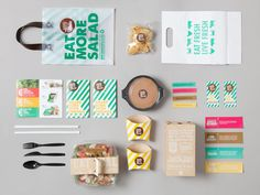 Sandwich or Salad. on Packaging Design Served
