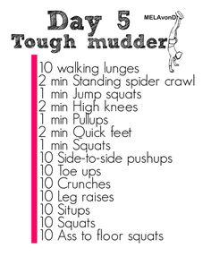 Tough Mudder day 5
