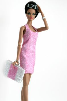Pink Sundress and Beach Bag by Chic Barbie Designs on Etsy