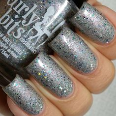 Girly Bits A Twinkle In Time from December A Box Indied, swatched 4 nails Nail Polish Sale, Twinkle Twinkle, Swatch, Girly, How To Apply, Nails, Pretty, December 2014, Box