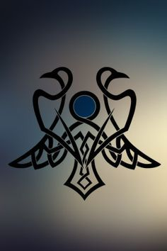 Odin's ravens from Norse mythology: Huginn (thought) and Muninn (memory). Great way to embrace my Norse heritage