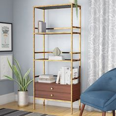 23 diy home decor on a budget you will love 19 Space Saving Furniture, Furniture Decor, Furniture Design, Geometric Furniture, Multifunctional Furniture, Etagere Bookcase, Diy Home Decor On A Budget, Bookshelves, Home Goods