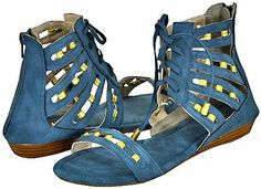 AwesomeNice Yoki Juniper Blue Women Flat Sandals