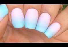 41 Eye-Catching Designs For Fun Summer Nails Looking for some new fun designs for summer nails? Check out our favorite nail art designs and don't forget to choose your favorite! Blue Ombre Nails, Pastel Nails, Pink Nails, My Nails, Pastel Gradient, Pastel Pink, Pastel Art, Nail Gradient, Gradient Nails Tutorial