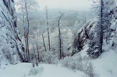 "40 below zero  National park ""Stolby"" (Krasnoyarsk, Russia)"