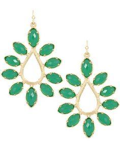 Nyla Earrings in Green - Kendra Scott Jewelry