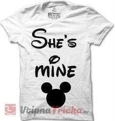 Pánské tričko She's mine Minnie Mouse | VtipnaTricka.cz