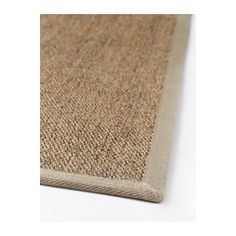 """IKEA — OSTED Rug, flatwoven [various sizes] (""""The rug is hard-wearing and durable because it's made of sisal, a natural fiber taken from the agave plant. Polyester edging makes the rug very durable and strong. Looks the same on both sides, so you can turn it over and it will withstand more wear and last longer. Ideal for high traffic areas like hallways since the rug is easy to vacuum and maintain."""")"""