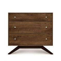"Astrid Three-Drawer Dresser & Copeland Furniture Astrid Dresser | YLiving - Dimensions: 33.5"" W X 18"" D X 31.5"" H; weight: 110 lbs"