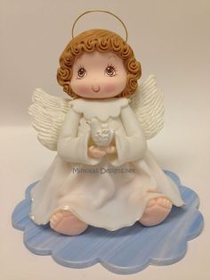 Angel and Dove Cake Topper
