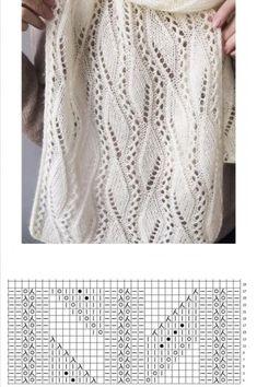 Knit Or Crochet, Lace Knitting, Crochet Shawl, Knitting Stitches, Knitting Designs, Knitting Patterns Free, Knit Patterns, Knitting Projects, Crochet Square Patterns