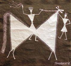 Jivya Soma Mashe - Warli art, India