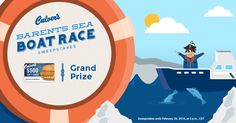 Culver's Barents Sea Boat Race #Sweepstakes Play daily, select states. Ends 2/26.
