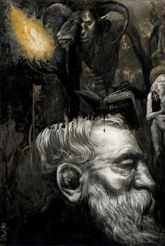 Illustration for El Horror de Dunwich by H.P. Lovecraft | Santiago Caruso