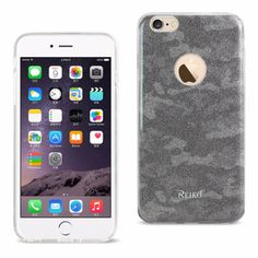 Reiko Iphone 6/6Splus 5.5 Glitter Glam Craystal Bling Tpu Case Camouflage Brown