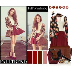 """Fall foral wardrobe"" by chareznasheer on Polyvore"