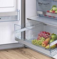 Bosch fridge freezers with VitaFresh keep food fresh for longer than standard fridges. Freestanding Fridge, Freezers, Food Fresh, Stay Cool, Contemporary Style, Healthy Lifestyle, Furniture, Home Decor, Decoration Home
