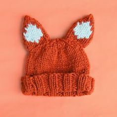Adorable knitted fox hat // Free knitting pattern