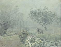 Alfred Sisley (1839-1899)  Fog, Voisins  1874  Oil on canvas