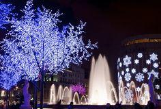 Plaça Catalunya. Llums de Nadal by MiquelGP54, via Flickr