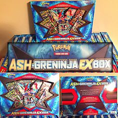 Ash's Greninja EX Box Pokemon Card Collection Box New SEALED Booster Packs | eBay
