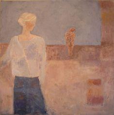 Original Painting by Paula Berks -' Wild Bird' online at www.navigatorarts.co.uk promoting Cornish Contemporary Art.
