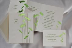 Bright Lime Daisies Wedding Invitations
