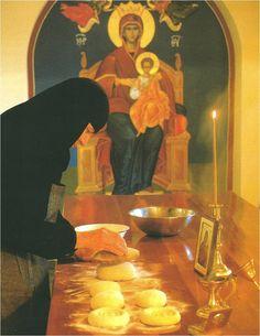 Wypiekanie chleba eucharystycznego - prosfory