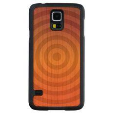 Orange metallic rings Samsung Galaxy Wood Case