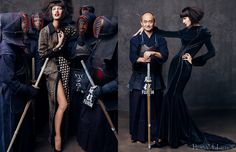 RJ   Harpers Bazaar China - In the Spirit of Kendo