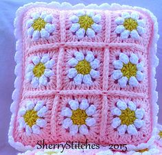 Ravelry: Princess Daisy's Flower Blanket by Sherry L. Farley