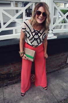 Love Lana's bold pants in this perfect ensemble! via Chapter Twenty Nine, a New Orleans #style blog. <3 #ontrend (thanks for the love mcoop!)