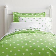Dot Floral Duvet Cover at The Company Store - Bedding - Kids - Twin Girls Twin Bed, Bunk Beds Built In, Kids Sheets, Outdoor Cushions And Pillows, Floral Bedding, Bed Duvet Covers, Big Girl Rooms, Luxurious Bedrooms, Bedding Shop