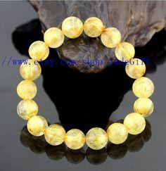Free Shipping  100  Grade AAA Real Natural Golden by jadeGift, $68.00