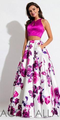 Rachel allan 7583 magenta floral prom dress – rsvp prom and pageant Floral Prom Dresses, Prom Dresses 2017, Cute Dresses, Beautiful Dresses, Bridesmaid Dresses, Formal Dresses, Pageant Dresses, Crop Top Elegante, Dress Outfits
