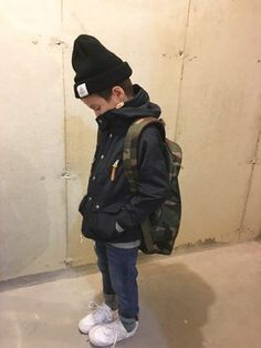 tokyonhさんの「NIKE AIR FORCE1 PS(NIKE|ナイキ)」を使ったコーディネート Toddler Outfits, Baby Boy Outfits, Kids Outfits, Vintage Baby Boys, Cute Toddlers, Well Dressed Men, Boy Fashion, Stylish Outfits, Cool Kids