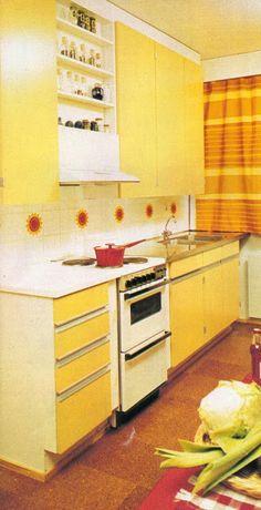 1970s Decor, Vintage Housewife, Good Old Times, Retro Home, Retro Design, Country Kitchen, Decor Styles, Retro Vintage, Home Improvement
